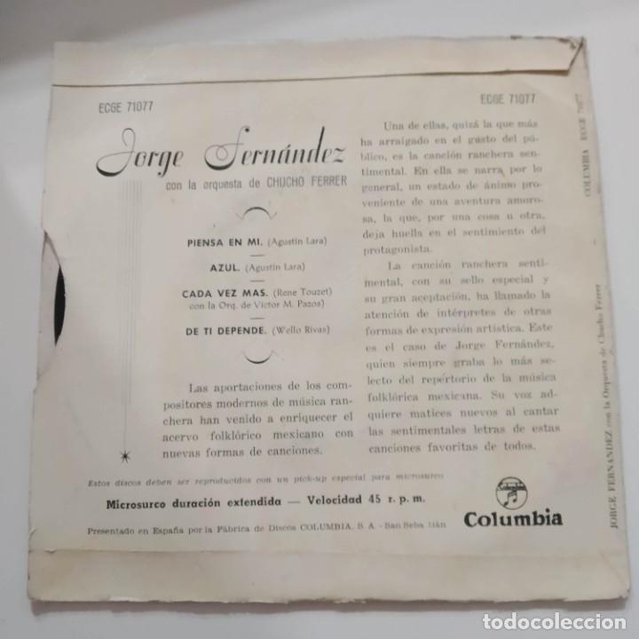 Discos de vinilo: Jorge Fernandez - Rancheras EP Años 50 - Foto 2 - 221089403