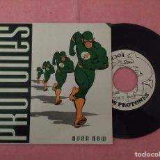 """Discos de vinilo: 7"""" LOS PROTONES – OVER NOW - ROCK INDIANA INDI-005 - SPAIN PRESS - INSERT (VG++/VG++). Lote 221097073"""