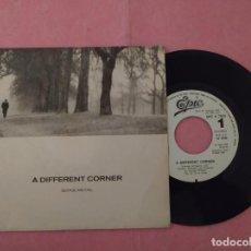 "Discos de vinilo: 7"" GEORGE MICHAEL – A DIFFERENT CORNER - EPIC EPC A 7033 - SPAIN PRESS PROMO 1SIDED (EX-/EX). Lote 221098718"
