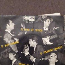 Discos de vinilo: LOS MUSTANG : EL RITMO DEL SILENCIO, SUBMARINO AMARILLO (BEATLES) + 2 - EP 1966. Lote 221106055