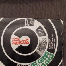 Discos de vinilo: LOS BRAVOS : LOS CHICOS CON LAS CHICAS,AL PONERSE EL SOL + 2 TRIANGULO EN LABEL 1967. Lote 221107981