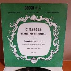 Discos de vinilo: 10 PULGADAS !! CIMAROSA / EL MAESTRO DE CAPILLA / LP - DECCA-25 CM / 200 EJEMPLARES / LUJO. *****. Lote 221108548