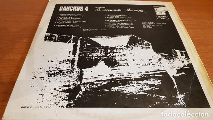 Discos de vinilo: GAUCHOS-4 / TE RECUERDO AMANDA / LP - EMI-ODEON-1975 / MBC. ***/*** - Foto 2 - 221109522