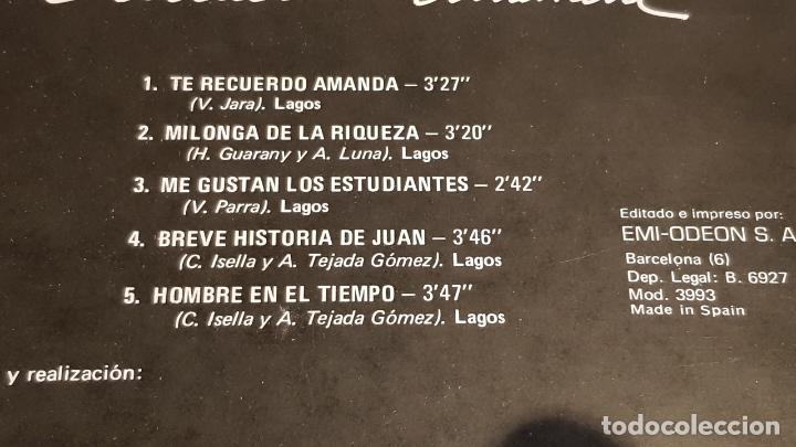 Discos de vinilo: GAUCHOS-4 / TE RECUERDO AMANDA / LP - EMI-ODEON-1975 / MBC. ***/*** - Foto 4 - 221109522