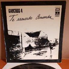 Discos de vinilo: GAUCHOS-4 / TE RECUERDO AMANDA / LP - EMI-ODEON-1975 / MBC. ***/***. Lote 221109522