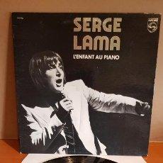 Discos de vinilo: SERGE LAMA / L'ENFANT AU PIANO / LP-GATEFOLD - PHILIPS-1977 / MBC. ***/***. Lote 293537973