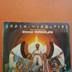 Disques de vinyle: SINGLE EARTH WIND & FIRE. WITH THE EMOTIONS. BOOGIE WONDERLAND. CBS ESTEREO. Lote 221116883