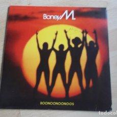 Discos de vinilo: BONEY M (LP) BOONOONOONOOS AÑO – 1981 – POSTER DESPLEGABLE CON FOTOS Y LETRAS + ENCARTE. Lote 221118703
