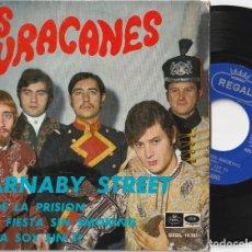 Discos de vinilo: LOS HURACANES - CARNABY STREET + 3 (EP EMI-REGAL 1967). Lote 221122291