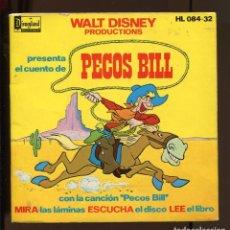 Discos de vinil: WALT DISNEY. LIBRO CUENTO. PECOS BILL. RARO. Lote 221122951