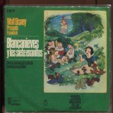 Disques de vinyle: WALT DISNEY.DISCO BLANCAANIEVES Y LOS SIETE ENANITOS. BUENO. Lote 221123793