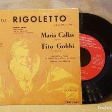 Discos de vinilo: RIGOLETTO DE VERDI - MARÍA CALLAS - TITO GOBBI. Lote 221126066