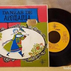 Discos de vinilo: DANZAS DE ALEMANIA - PALMEAR Y DANZAR - POLCA DE LA ESTRELLA - POLCA DEL MOLINILLO - C. LANZADORES. Lote 221126612