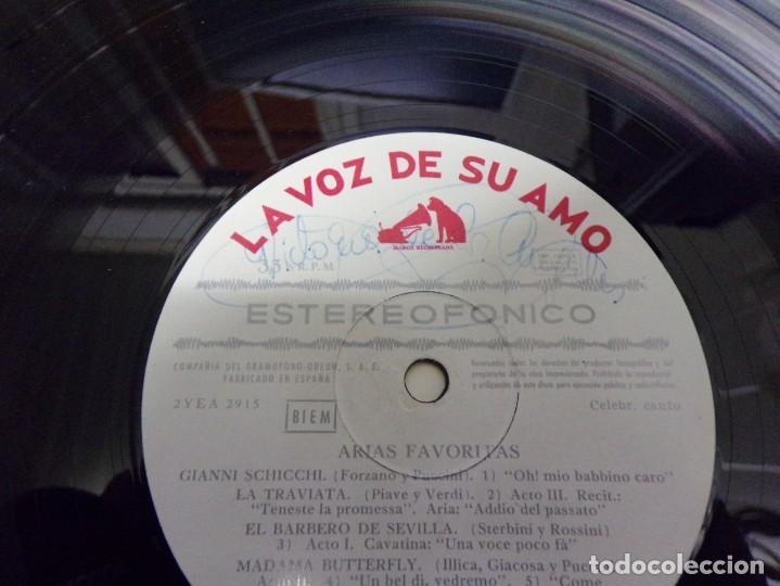 Discos de vinilo: Disco firmado - Victoria de los Angeles - favourite arias - Foto 2 - 221127402