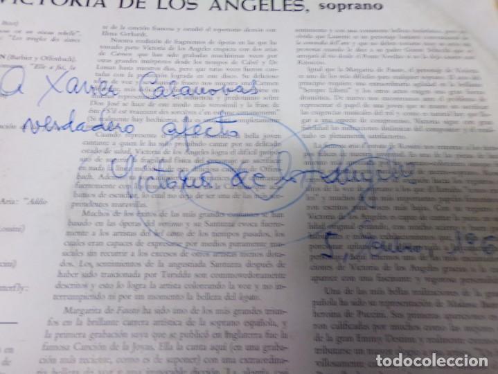 Discos de vinilo: Disco firmado - Victoria de los Angeles - favourite arias - Foto 5 - 221127402