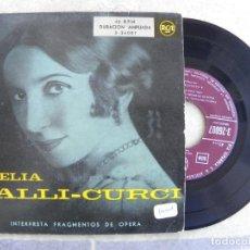 Discos de vinilo: AMELIA GALLI GURCI -LA TRAVIATTA -EP. Lote 221132496