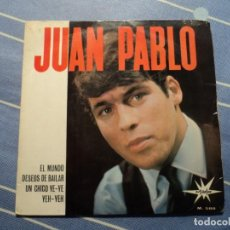 Discos de vinilo: JUAN PABLO: SOLISTA ESPAÑOL YE YE- BEATLES-POP ESPAÑOL DE LOS 60 S'-BONITO EP DE MARFER-OPORTUNIDAD. Lote 221133562
