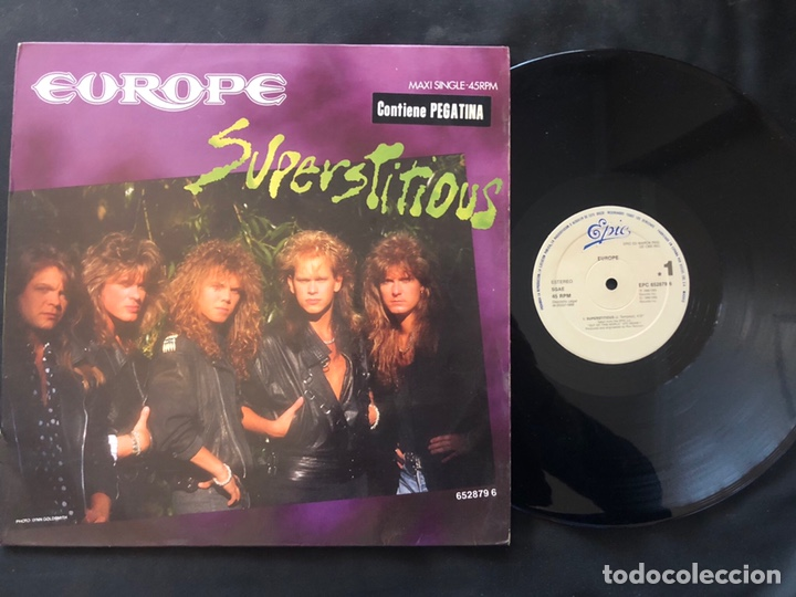 Discos de vinilo: Europe ?– Superstitious 1988 Rock - Foto 1 - 221134065