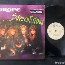 Discos de vinilo: EUROPE ?– SUPERSTITIOUS 1988 ROCK. Lote 221134065