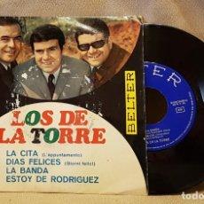 Discos de vinilo: LOS DE TORRE - LA CITA - DIAS FELICES - LA BANDA - ESTOY DE RODRIGUEZ. Lote 221138106