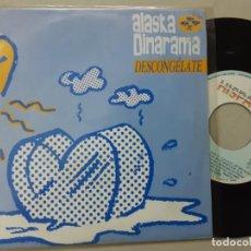 Disques de vinyle: ALASKA Y DINARAMA, DESCONGELATE, X LAS DOS CARAS, PROMO ONLY. Lote 221148553