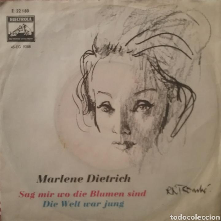 MARLENE DIETRICH. SINGLE. SELLO ELECTROLA. EDITADO EN ALEMANIA (Música - Discos - Singles Vinilo - Bandas Sonoras y Actores)