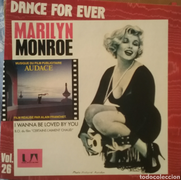MARILYN MONROE. SINGLE. SELLO UNITED ARTISTS RÉCORDS. EDITADO EN FRANCIA. (Música - Discos - Singles Vinilo - Bandas Sonoras y Actores)