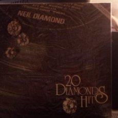 Discos de vinilo: NEIL DIAMOND - 20 DIAMONDS HITS. Lote 221155528
