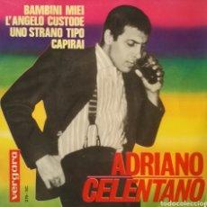 Discos de vinilo: ADRIANO CELENTANO. EP. SELLO VERGARA. EDITADO EN ESPAÑA. AÑO 1964. Lote 221155823