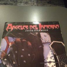 """Discos de vinilo: ÁNGELES DEL INFIERNO """" JOVEN PARA MORIR """" EDICIÓN ORIGINAL ESPAÑOLA. 1986. Lote 221160508"""