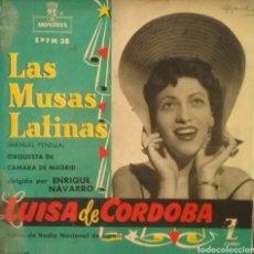 Discos de vinilo: LUISA DE CÓRDOBA. EP. SELLO MONTILLA. EDITADO EN ESPAÑA.. Lote 221161586