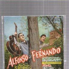 Disques de vinyle: ALFONSO Y FERNANDO LA HISTORIA DE MI AMOR. Lote 221245571