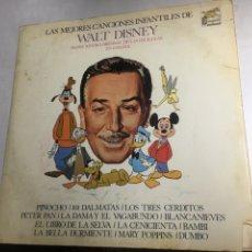 Discos de vinilo: DISCO VINILO LP - LAS MEJORES CANCIONES INFANTILES DE WALT DISNEY. Lote 221248557