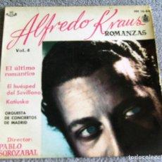 Discos de vinilo: ALFREDO KRAUS - ROMANZAS - VOL. 4 - EP - EL ÚLTIMO ROMÁNTICO + 2 - AÑO 1959. Lote 221258845