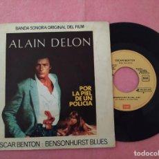 "Discos de vinilo: 7"" OSCAR BENTON – BENSONHURST BLUES - EMI 10C 006-024.693 - SPAIN PRESS - PROMO (VG+/VG+). Lote 221260315"