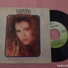 "Discos de vinilo: 7"" VALENTINA GAUTIER ‎– QUIERO UN ANGEL - FIVE ‎10.2498 - SPAIN PRESS (VG++/VG++). Lote 221261298"