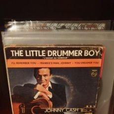 Discos de vinilo: JOHNNY CASH / THE LITTLE DRUMMER BOY / EDICIÓN FRANCESA / PHILIPS 1960. Lote 221262365