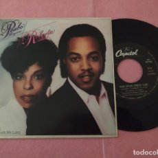 "Discos de vinilo: 7"" PEABO BRYSON / ROBERTA FLACK ‎– TONIGHT I CELEBRATE MY LOVE - PORTUGAL PRESS (VG++/VG++). Lote 221278211"