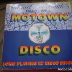 Discos de vinilo: MICHAEL LOVESMITH BABY I WILL. Lote 221279355