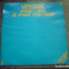 Discos de vinilo: UNIQUE WHAT I GOT IS WHAT YOU NEED. Lote 221283522