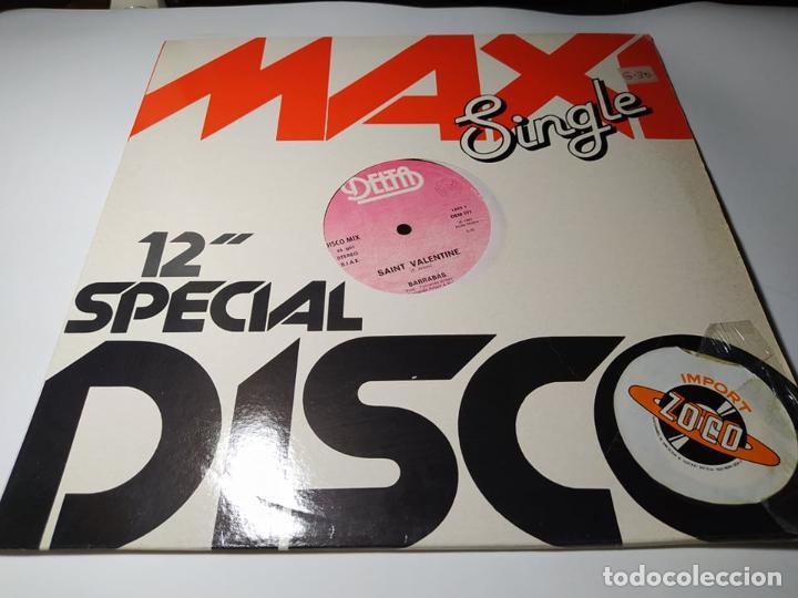 MAXI - BARRABAS ?– SAINT VALENTINE - DEM 777 ( VG+/ VG+) ITALY 1983 (Música - Discos de Vinilo - Maxi Singles - Disco y Dance)