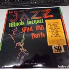 Discos de vinilo: DISCO LOS GRANDES DEL JAZZ NUMERO 80 ILLINOIS JACQUET WILD BILL DAVIS. Lote 221297575