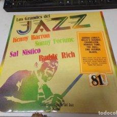 Discos de vinilo: DISCO LOS GRANDES DEL JAZZ NUMERO 81 KENNY BARRON SONNY FORTUNE SAL NISTICO BUDDY RICH. Lote 221298230
