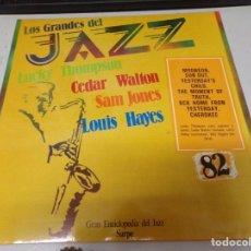 Discos de vinilo: DISCO LOS GRANDES DEL JAZZ NUMERO 82 LUCKY THOMPSON CEDAR WALTON SAM JONES LOUIS HAYES. Lote 221298795