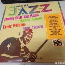 Discos de vinilo: DISCO LOS GRANDES DEL JAZZ NUMERO 88 BUDDY RICH BIG BAND MANNY ALBAM ERNIE WILKINS DON MENZA. Lote 221300343