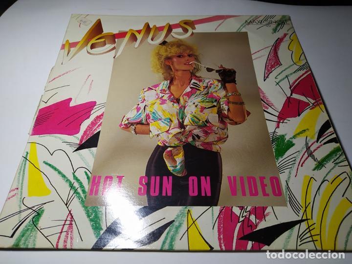 MAXI - VENUS ?– HOT SUN ON VIDEO - M.Z5.08 ( VG+/ VG+) SPAIN 1985 (Música - Discos de Vinilo - Maxi Singles - Disco y Dance)
