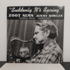 Discos de vinilo: ZOOT SIMS AND JOMMY ROWLES. SUDDENLY IT'S SPRING. PABLO. PROMOCIONAL. 1985?. Lote 221314200