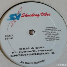 Discos de vinilo: GHOST / GENERAL B / ROUNDHEAD - DEM A EVIL / BUICK SKYLARK. Lote 221317703
