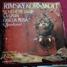 Discos de vinilo: RIMSKY KORSAKOFF - SCHEREZADE Y LA OBERTURA DE LA GRAN PASCUA RUSA - LP. Lote 221322313