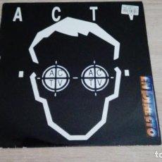 Disques de vinyle: ACTV EN DIRECTO-VINILO-LP 33 RPM-CONTRASEÑA RECORDS-DJ MANOLO EL PIRATA-VALENCIA-1994-MUY DIFÍCIL.. Lote 221328150